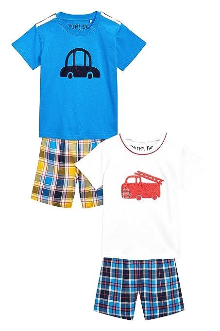 next Niños Pack De Dos Pijamas Tejidos De Cuadros (9 Meses - 8 Años) 7-8 años: Amazon.es: Ropa y accesorios