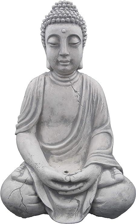 Buda grande de piedra, resistente a las heladas.: Amazon.es: Jardín