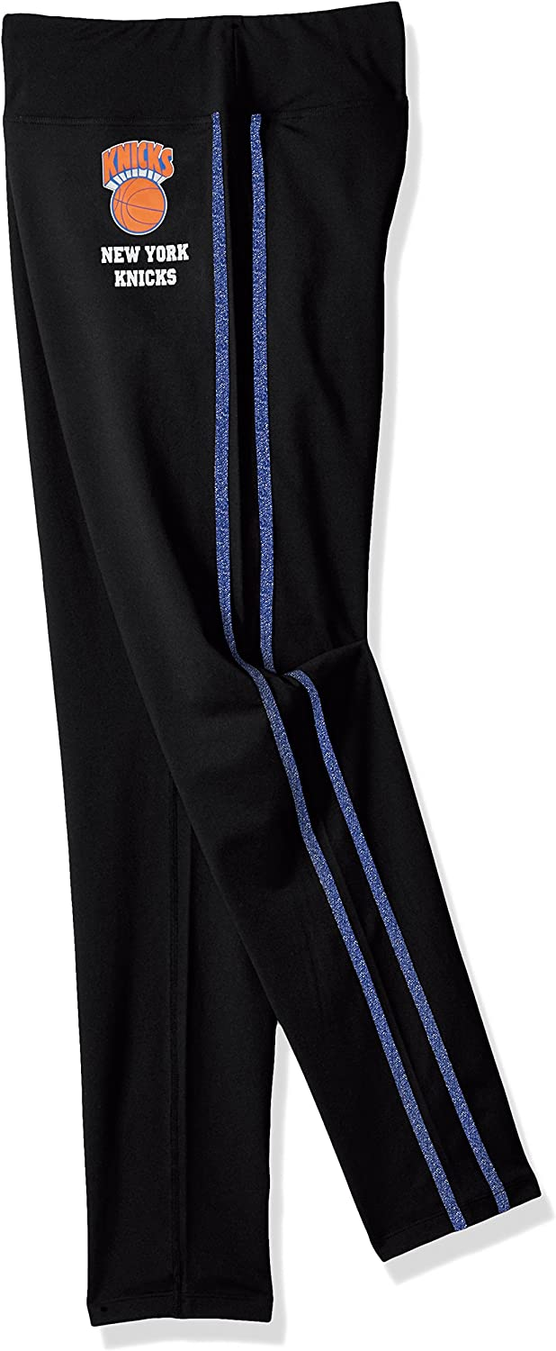 GIII For Her NBA New York Knicks Womens Warm Up Leggings Black X-Large