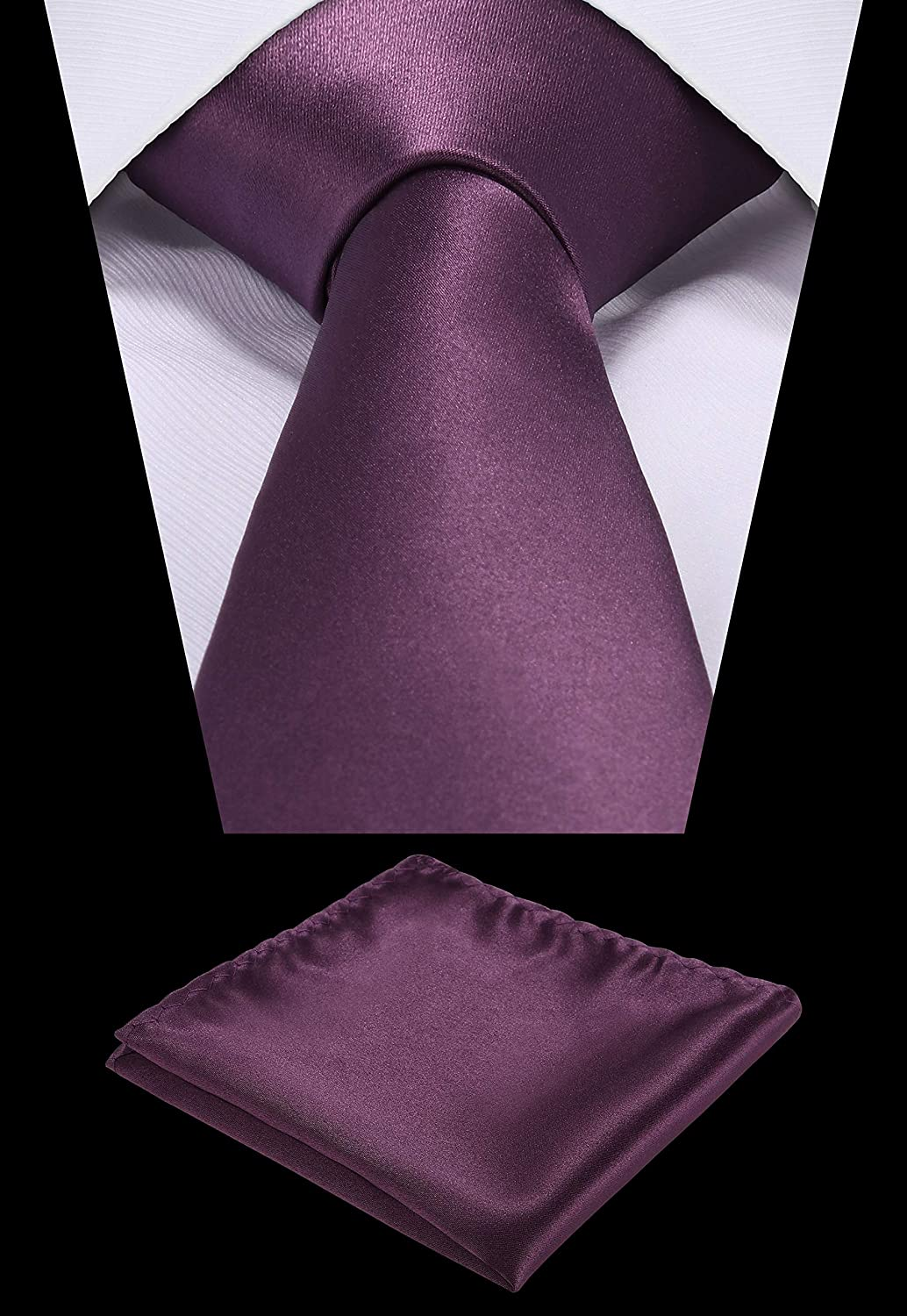 Pocket Square set,Satin Super Fine Micro Fiber,Silky Finishing,Gift Box Packing Wine Gift Box set. Solid Color Neck tie