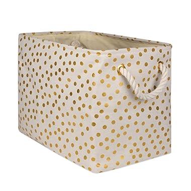 DII CAMZ10368 Polyester Storage Bins, 17.75x12x15 , Dots