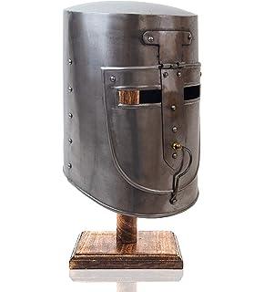 Amazon.com: Edad Media Gran Helm Casco de Cruz de Hierro ...