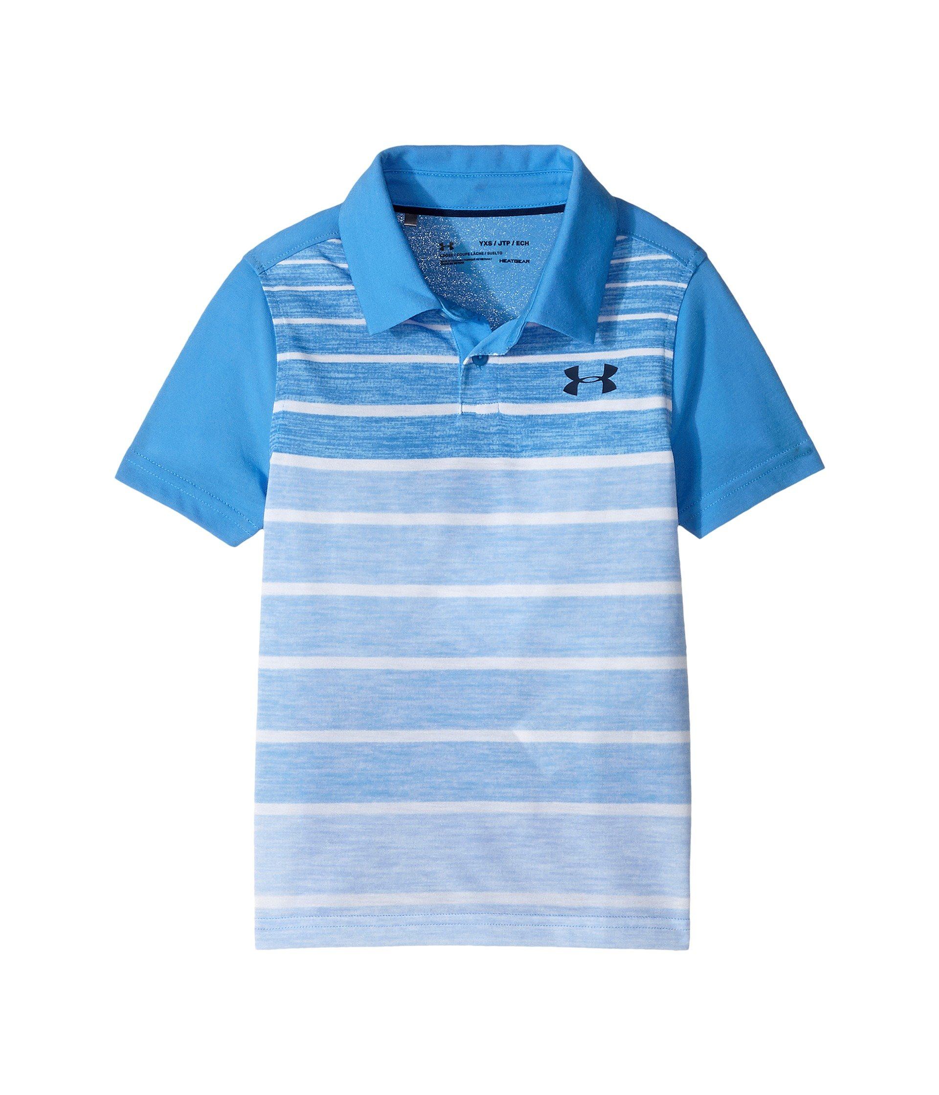 Under Armour Kids Boy's Threadborne Polo (Big Kids) Mako Blue/Academy/Academy Shirt