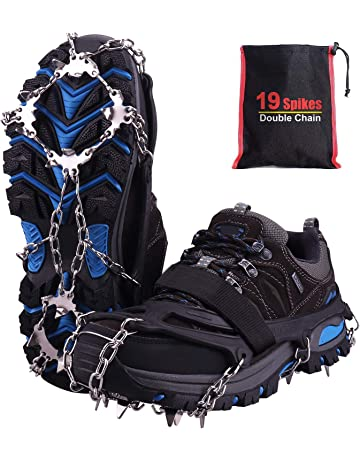 Onze Clous anti dérapante Spikes Grips Crampon Crampons Surchaussure Glace Neige 3 Tailles