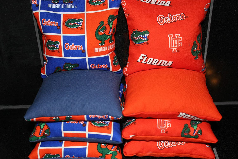 FLORIDA GATORS BEAN BAG TOSS CORNHOLE BAGS SET OF 8 TOP QUALITY TAILGATE TOSS