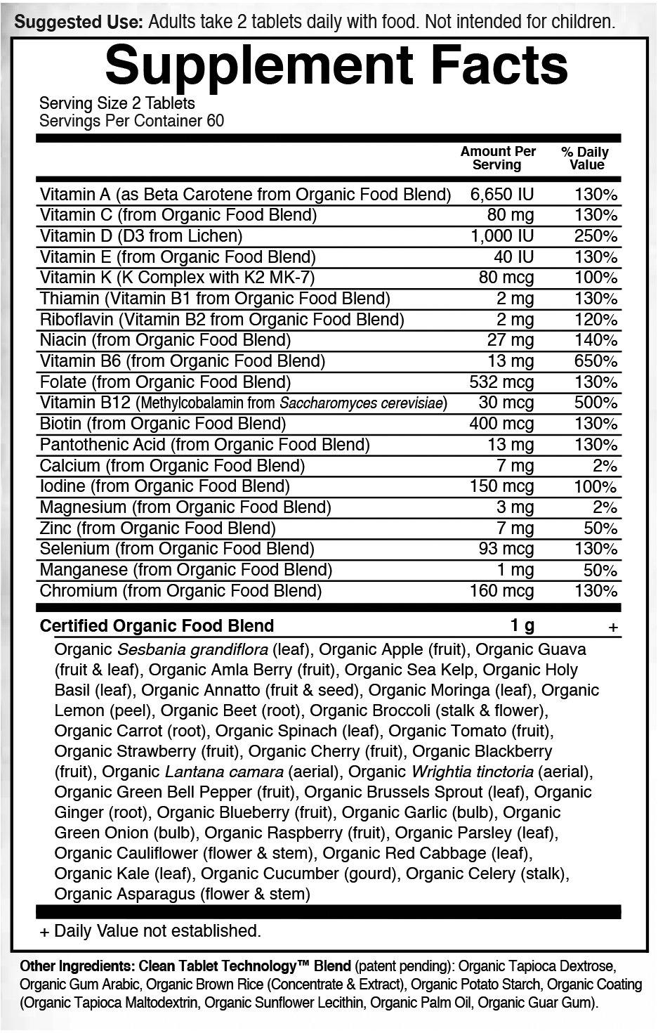 Garden of Life Multivitamin for Men - mykind Organic Men's Whole Food Vitamin Supplement, Vegan, 120 Tablets by Garden of Life (Image #6)