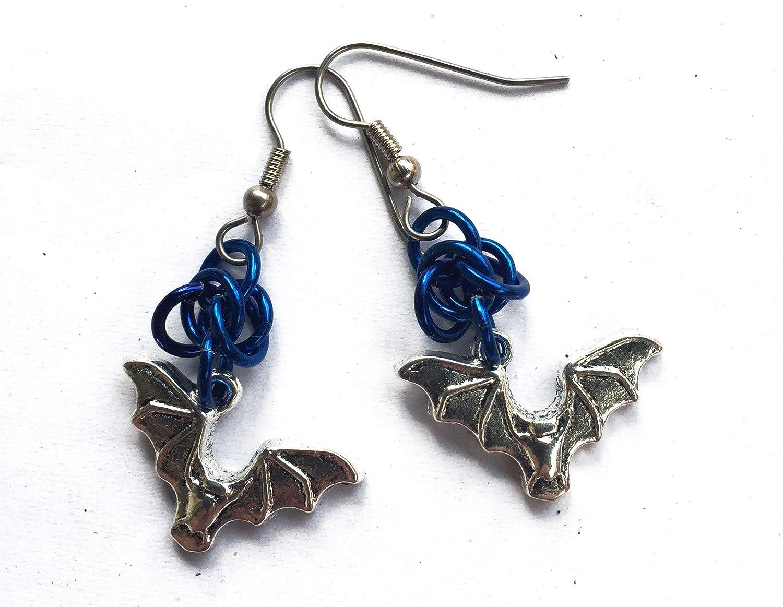 Halloween Hanging Bat Earrings
