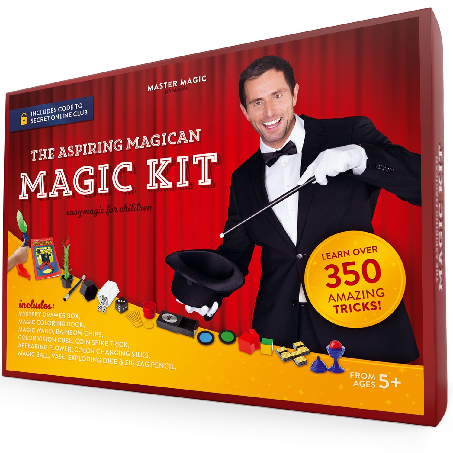 MasterMagic Magic Kit - Easy Magic Tricks For Children - Learn Over 350 Spectacular Tricks With This Magic Set - Ideal For Beginners and Kids of All Ages! by MAGIC MASTER
