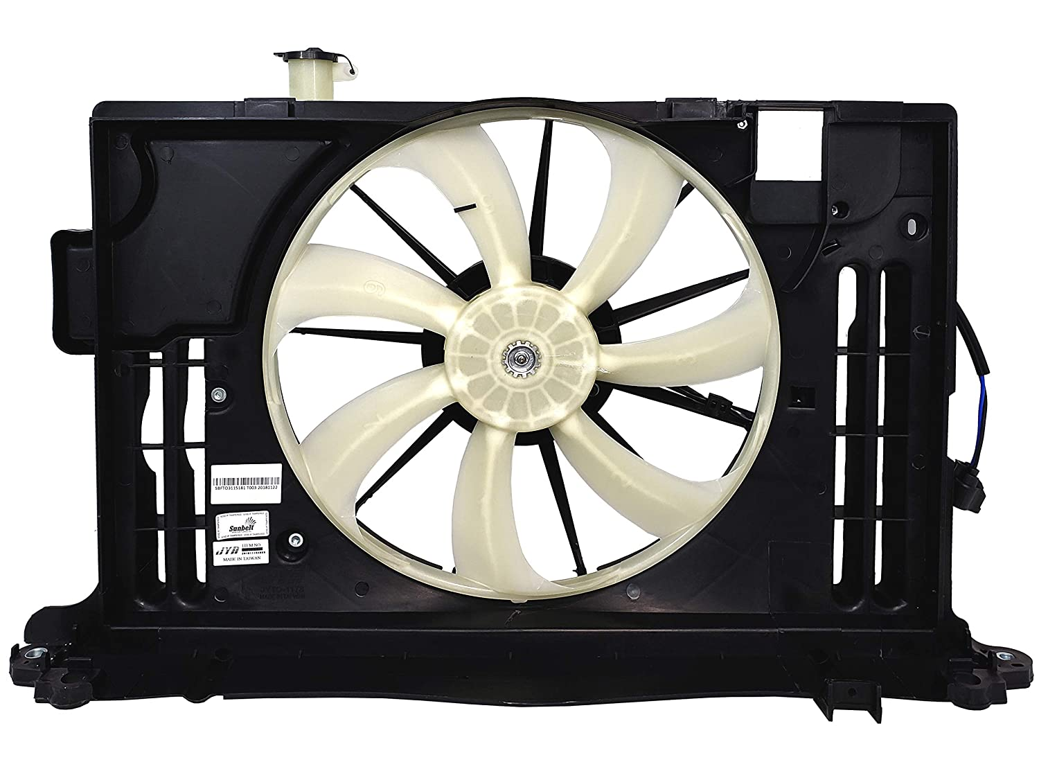 Sunbelt Radiator Cooling Fan Assembly For Toyota Corolla TO3115181 Drop in Fitment