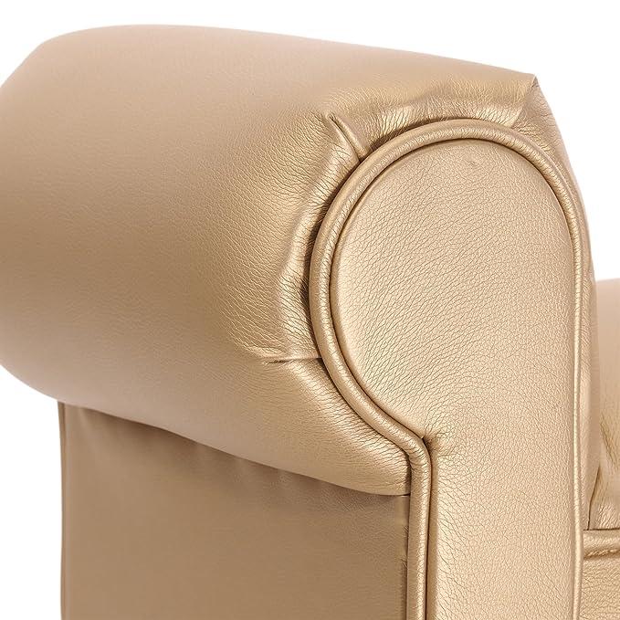 100x50cm Farbe: 1001 Gold-Metallic   Flurbank Beistellbank Dekobank Polsterbank LxH DESIGN DELIGHTS SITZBANK Glamour