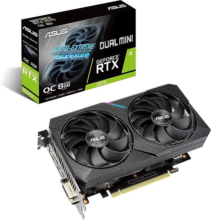ASUS GeForce RTX 2070 Dual Mini OC DUAL-RTX2070-O8G-Mini 8GB | Amazon