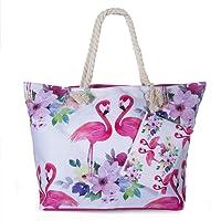 ZeWoo Vacances Fourre Sac de Plage, Sac fourre-tout parfait Pochette sac à Main Sac de Shopping Pour Femme et Filles