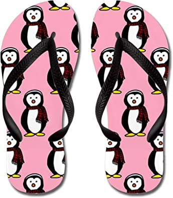 Lplpol Pink Flamingos Flip Flops for Kids and Adult Unisex Beach Sandals Pool Shoes Party Slippers