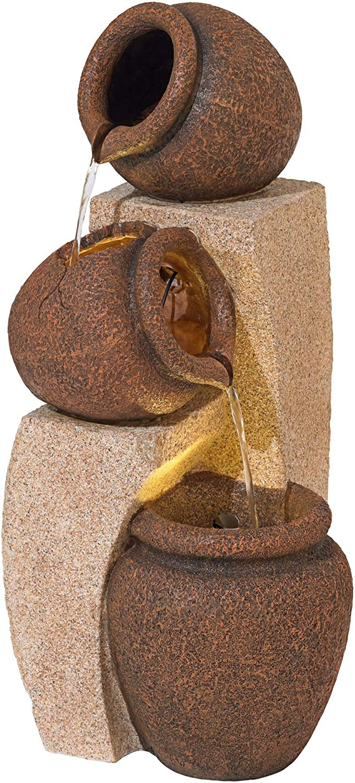 "John Timberland Tipping Jugs LED Indoor/Outdoor 30"" High Fountain"
