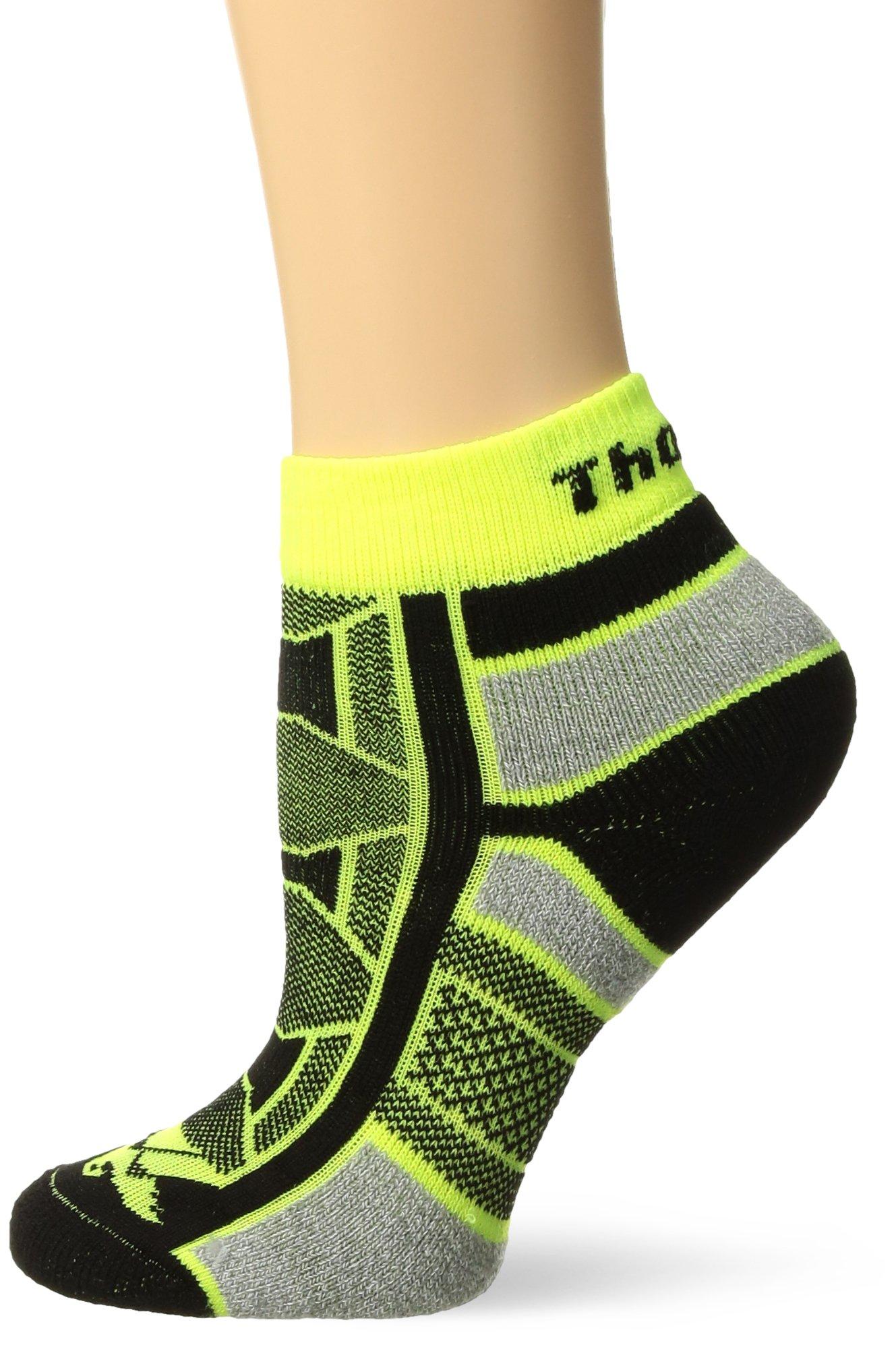 Thorlos Unisex OAQU Outdoor Athlete Thin Padded Ankle Sock, YELLOW JACKET, Large by Thorlo