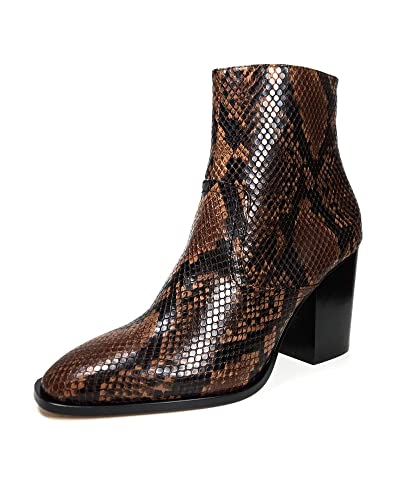 8ed5fc0e082a Amazon.com: Zara Women Animal Print high Heel Ankle Boots 5123/301 ...