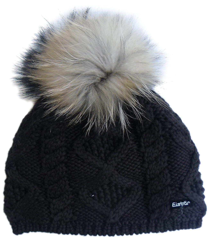 Eisbär Damen Mütze Mirella für MÜ, Dunkelbraun, One size, 408013