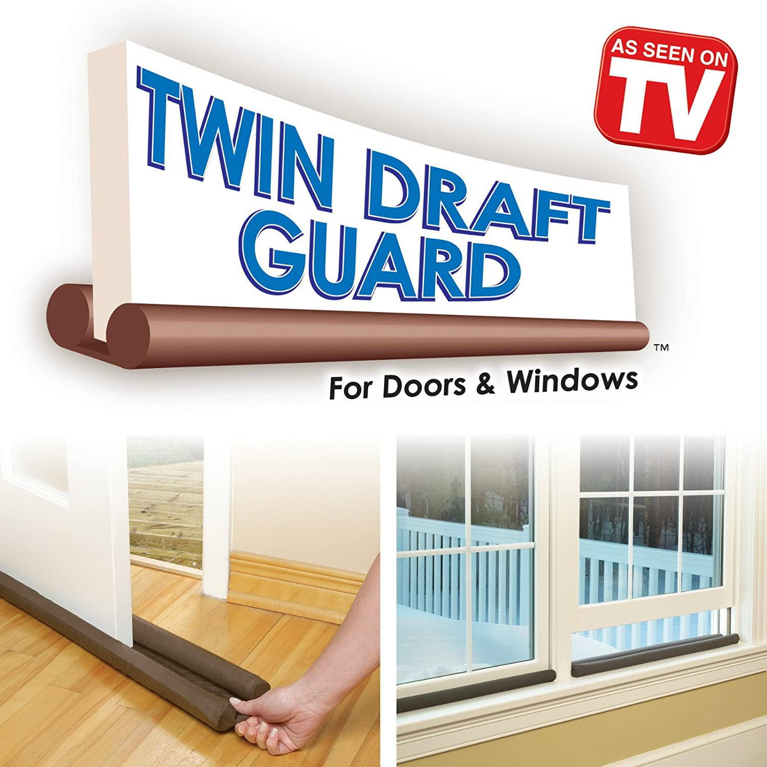 Amazon.com: Twin Draft Guard Door/Window Energy Saving As Seen On TV (Brown): Home \u0026 Kitchen