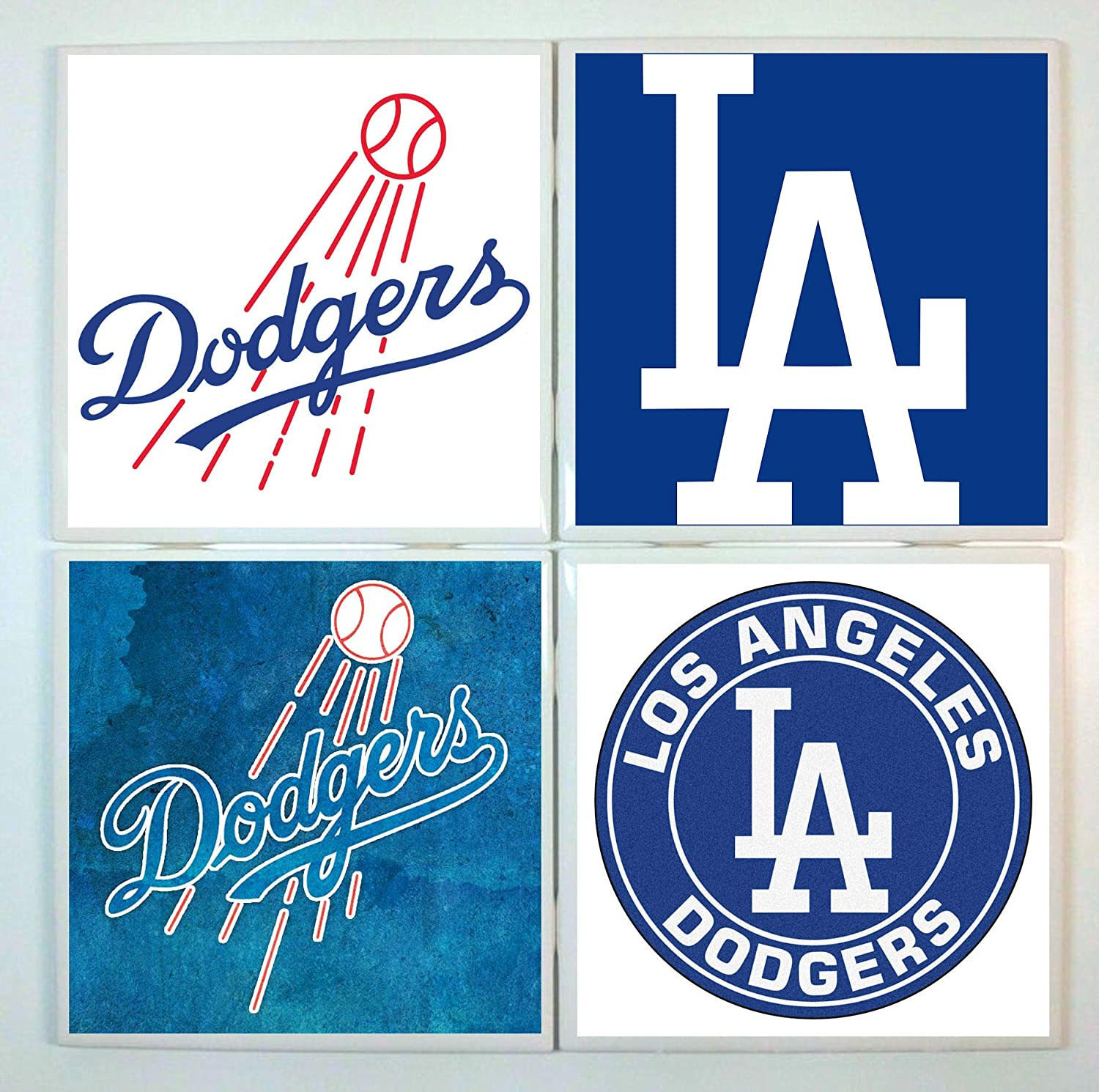 LA Dodgers Coasters - set of 4 tile coasters - baseball