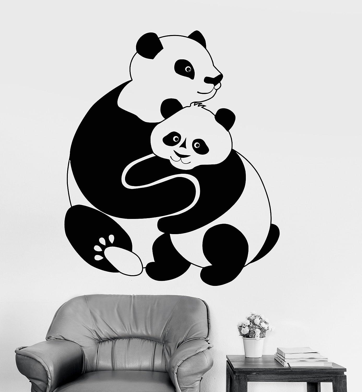 Vinyl Wall Decal Panda Animal Baby Room Decoration Kids Stickers Mural (016ig) Gold Metallic