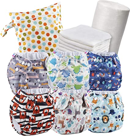 Reusable nappy Starter Pack covers For Pocket Nappy unisex designs