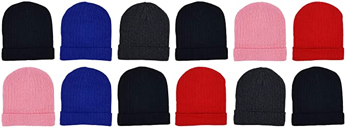 Amazon.com  12 Pack Winter Beanies 8b9df07335c