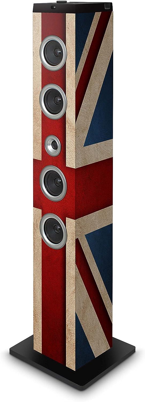 BigBen TW7UKFLAG - Altavoz de tipo barra (40 W RMS, pantalla LCD, USB, MP3, radio FM, con docking para Apple iPod/iPad/iPhone, mando a distancia), multicolor