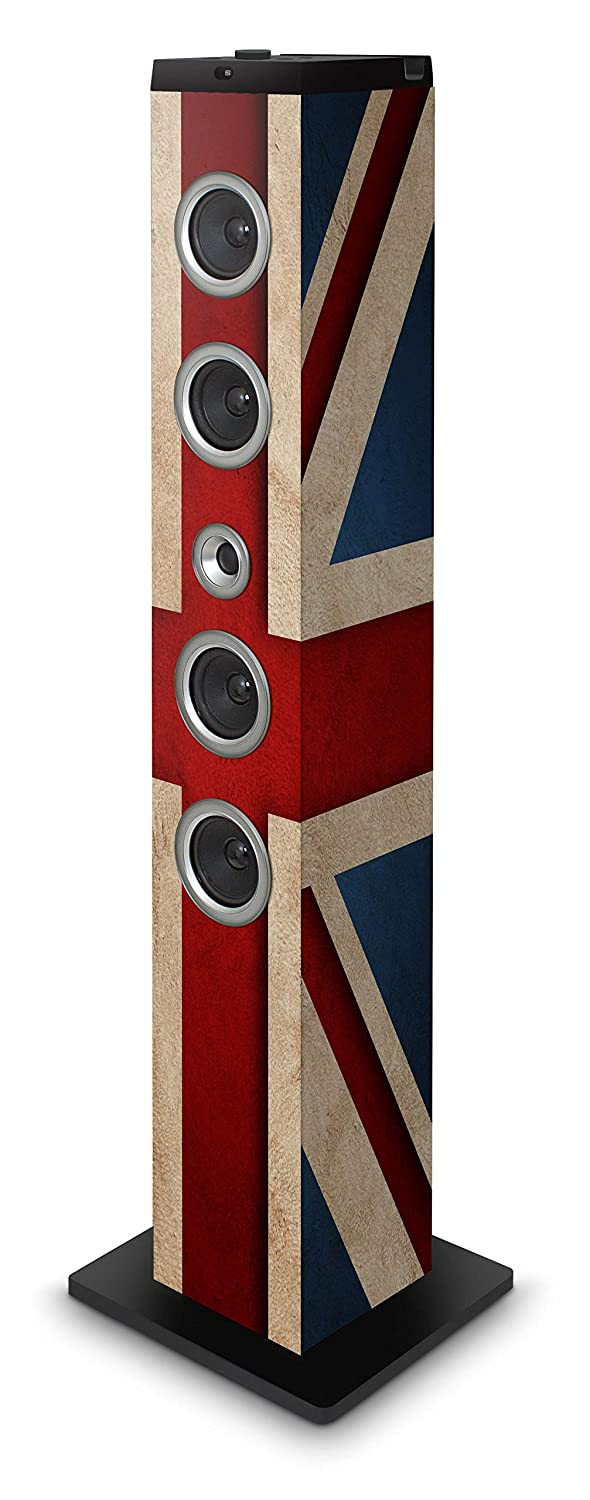 BigBen TW7UKFLAG - Altavoz de tipo barra (40 W RMS, pantalla LCD, USB, MP3, radio FM, con docking para Apple iPod/iPad/iPhone, mando a distancia), multicolor