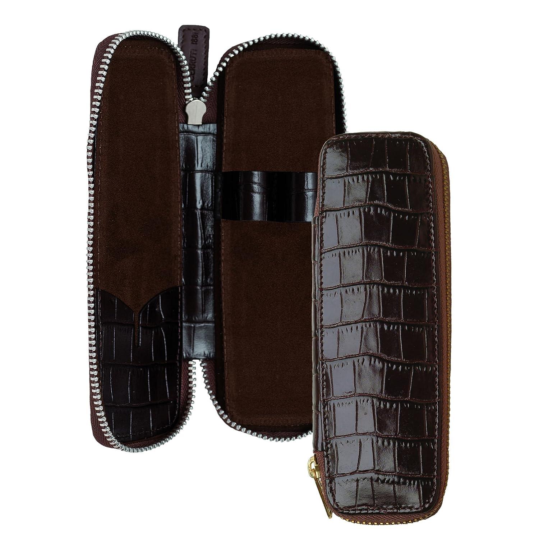 muy popular Cerruti 1881 – Estuche de piel Para 2 bolígrafos – – – Ecaille  últimos estilos