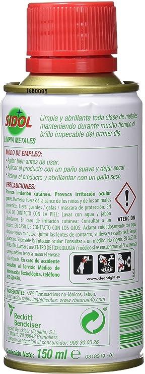 Sidol Limpia Metales Líquido - 6 x 150 ml: Amazon.es: Salud y ...