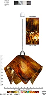 product image for Jezebel Signature JRNI-FP16-EAR-TRNI Nickel Flame Track Light, Large, Earth