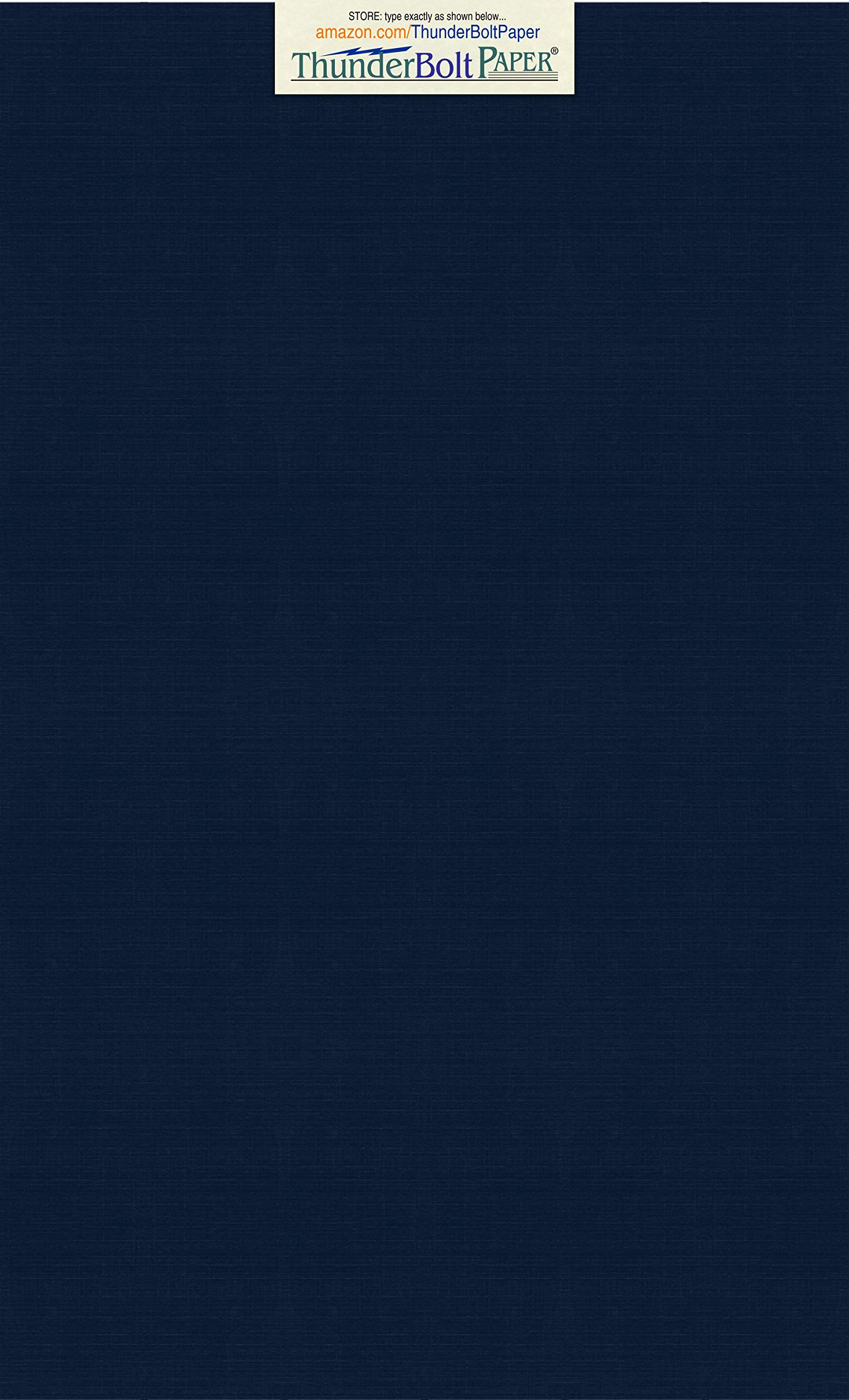 100 Dark Navy Blue Linen 80# Cover Paper Sheets - 8.5 X 14 Inches Legal|Menu Size - 80 lb/Pound Card Weight - Fine Linen Textured Finish - Deep Dye Quality Cardstock