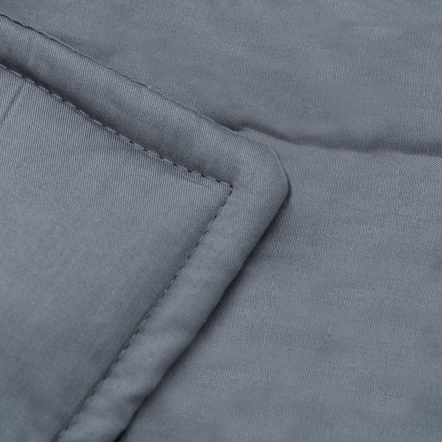 Sivio Weighted Blanket (48'' x 72'', 12lbs for 90-100lb Individual, Grey) for Kids | 100% Cotton Material with Glass Beads | Great for Relaxing by Sivio (Image #4)
