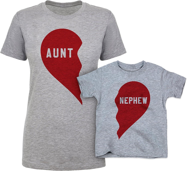 Kids Aunties Bestie T-shirt Girls Birthday Christmas Aunt Best Friend Niece Gift