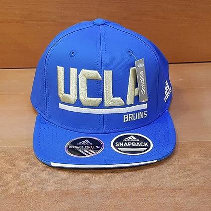 Amazon.com   ADIDAS SLD ADJUSTABLE FLAT BRIM SNAPBACK HAT BLUE WITH ... c27a3883bde0