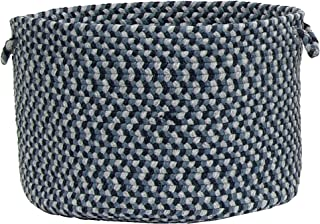 product image for Colonial Mills Boston Common Basket Braided Storage, 18x18x12, Capeside Blue