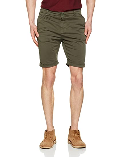 Mens Stretch Turnup Chino Shorts Urban Classic uDA3G7w