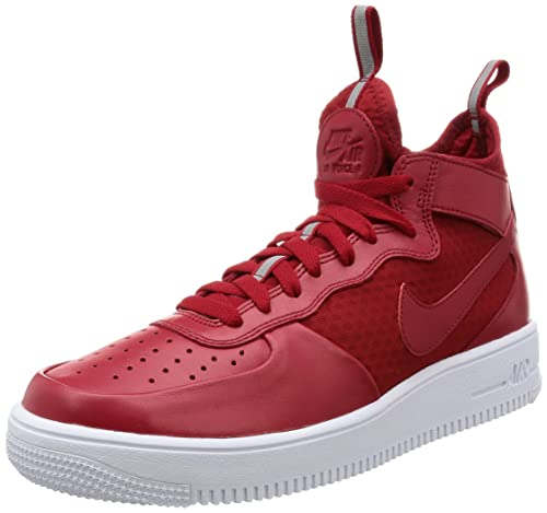NIKE Mens Air Force 1 Ultraforce Mid Shoes Gym RedGym Red