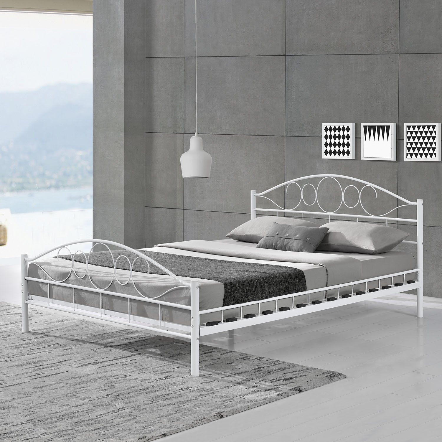 Metallbett 180x200 braun  Metallbetten | Amazon.de