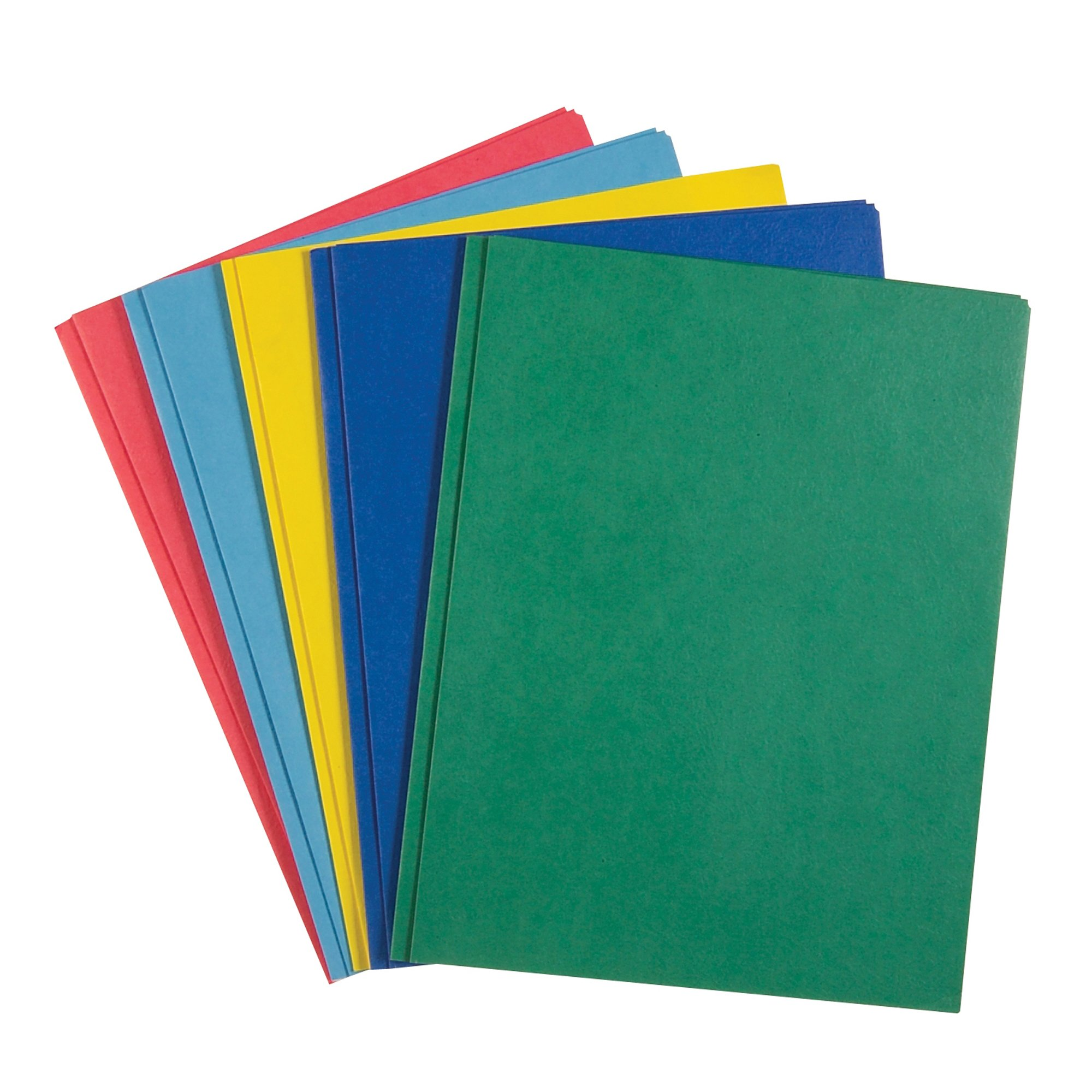 Roaring Spring Embossed 2-Pocket Folders with Prongs. 25/box. Assorted Colors