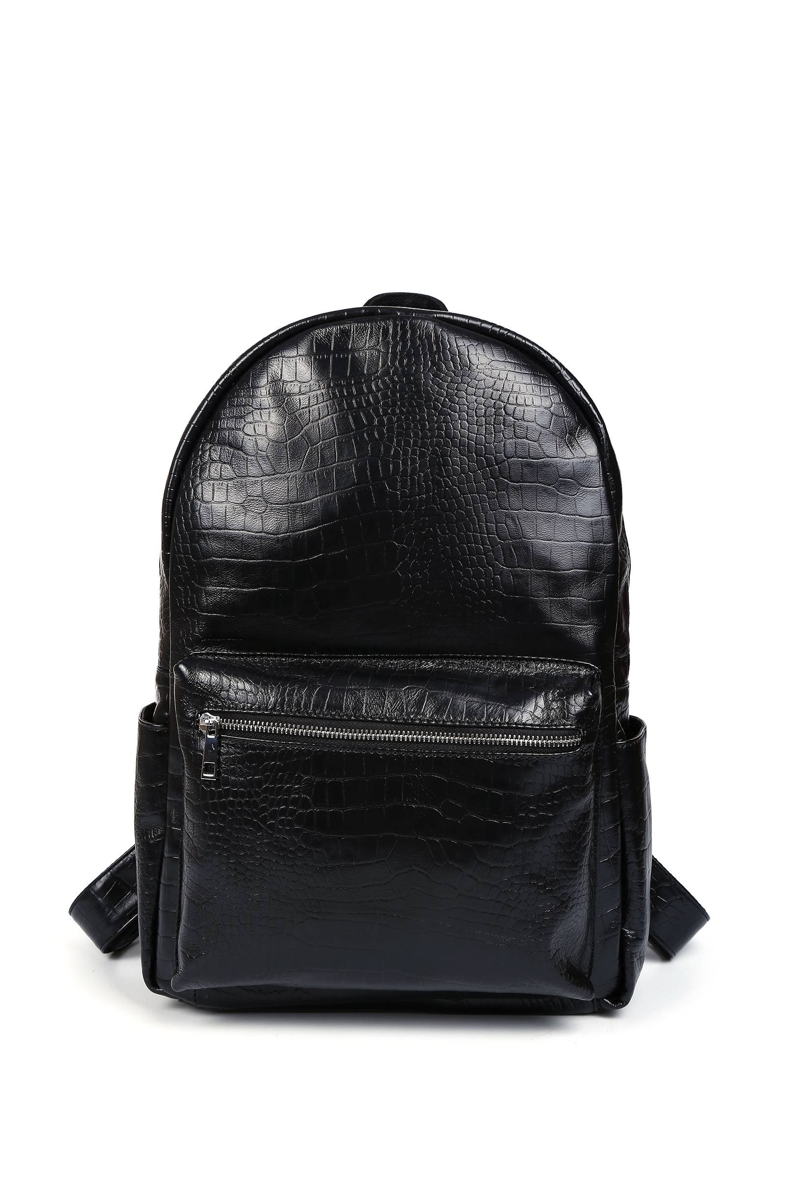 Leather Backpack for Women College School Bag Laptop Backpacks Girls Day Pack (Black)