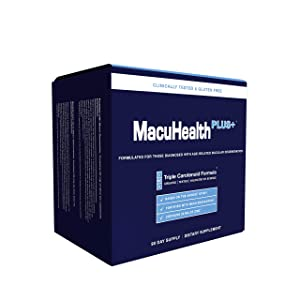 MacuHealth PLUS+ Eye Vitamins Supplement for Adults (90 Days Supply) AREDS2 Based Formula for AMD with Lutein, Zeaxanthin, And Meso-Zeaxanthin | Protect Against Macular Degeneration