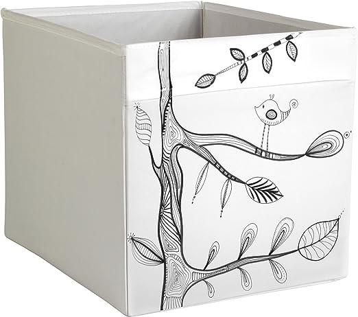 DRONA Personalizada IKEA Caja de almacenaje IKEA Expedit o Kallax Insertar Moderno EIVOR – Patrón Pájaros Árboles Valentina Ramos: Amazon.es: Hogar