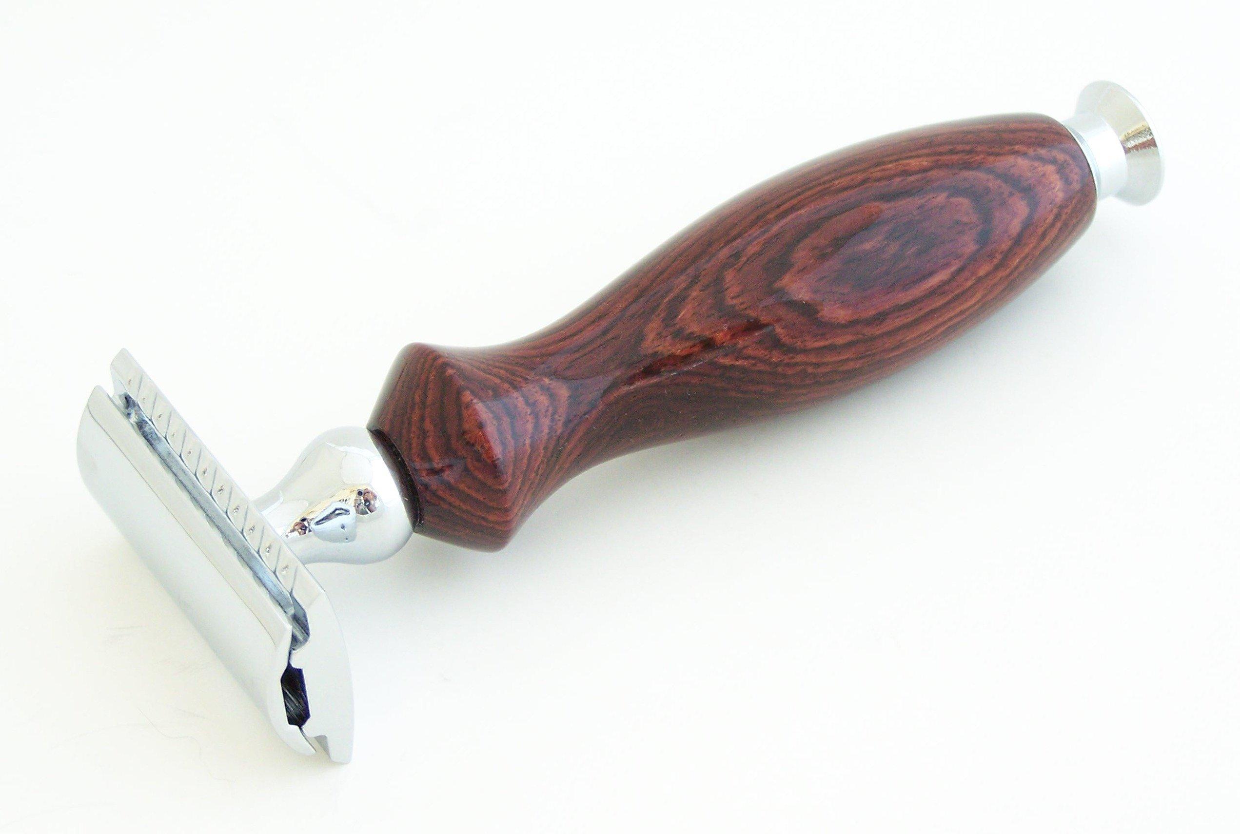 Camatillo Rosewood DE (Double Edge) Safety Razor Shaving Handle (C1)