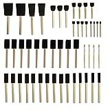 FW-BRUSH Round Stencil Brush and Small Foam Brush