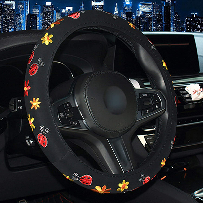 Schmetterling XuanMax Stickerei Lenkradbezug Auto 38cm Lenkradh/ülle Lenkrad Abdeckung f/ür Frauen Lenkradschoner Universal 15 Inch Lenkradabdeckung Lenkradschutz