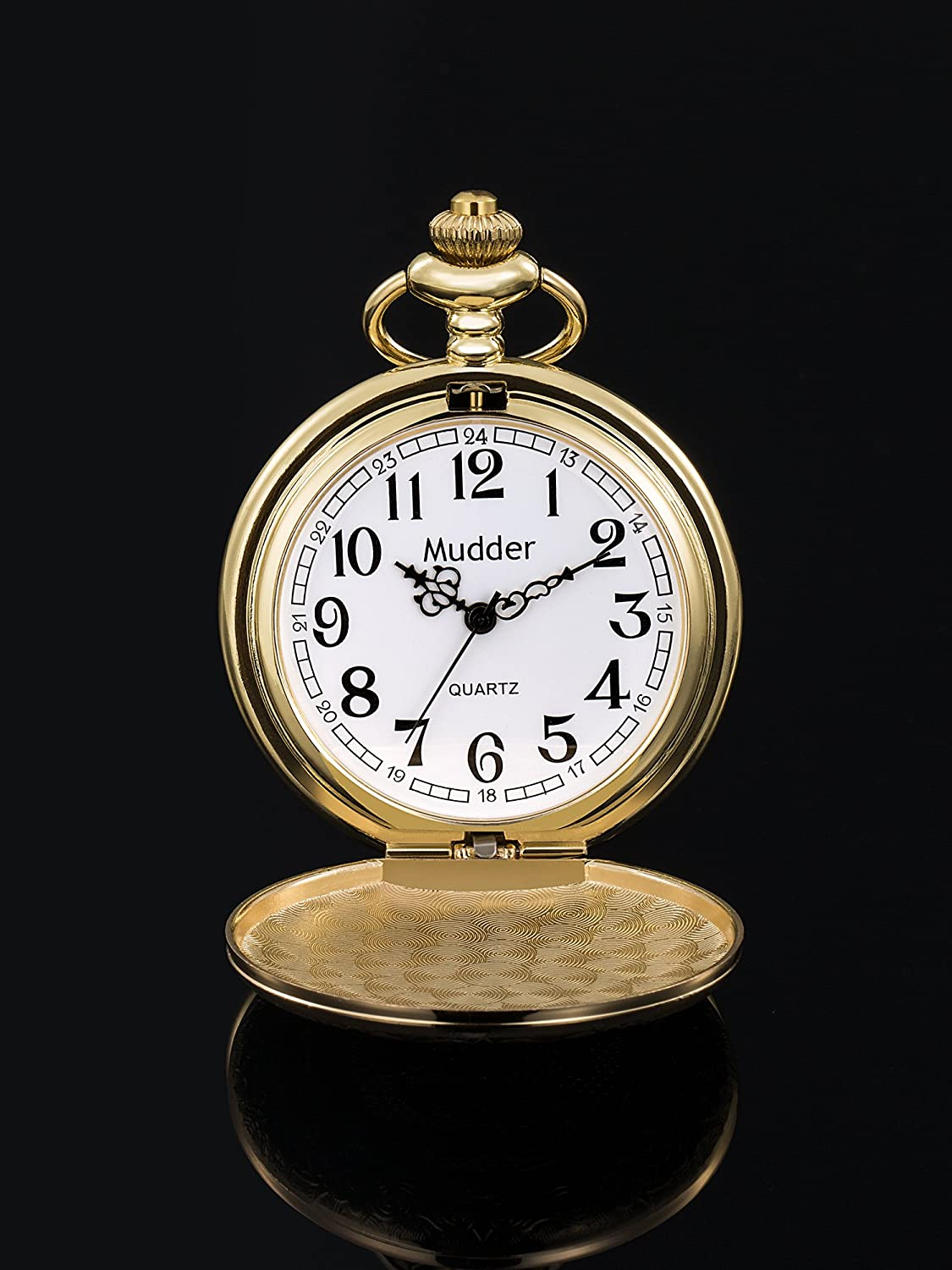 Edwardian Men's Accessories Mudder Vintage Stainless Steel Quartz Pocket Watch Chain $11.99 AT vintagedancer.com