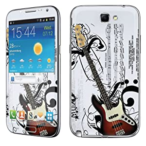 Samsung [Galaxy Note 2] Skin [NakedShield] Scratch Guard Vinyl Skin Decal [Full Body Edge] [Matching WallPaper] - [Music Guitar] for Samsung Galaxy [Note 2]
