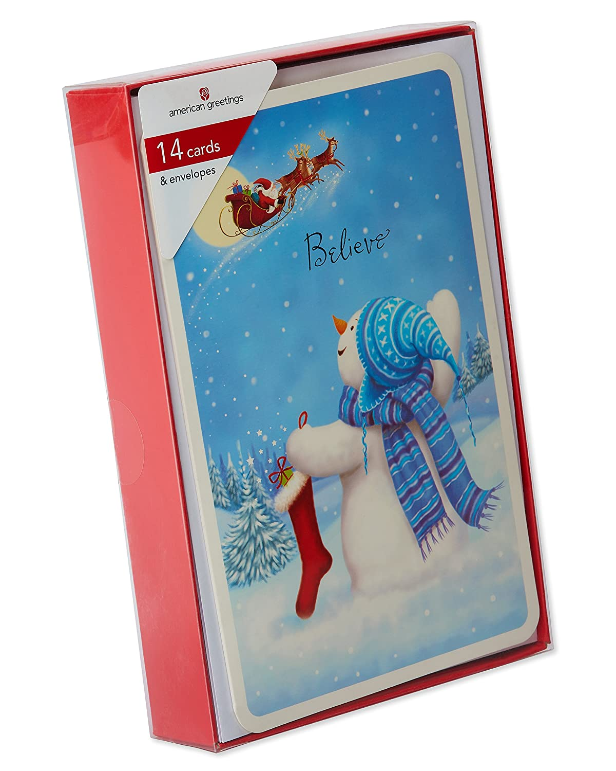 Amazon American Greetings Christmas Boxed Cards Multicolored