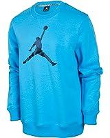 Jordan Jumpman Crewneck Men's Fleece T-Shirt Sky Blue/Black 574146-412